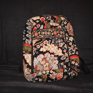 Black/ Red Vera Bradley Laptop Backpack